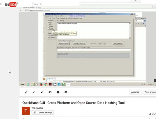 New video to showcase QuickHash-GUI