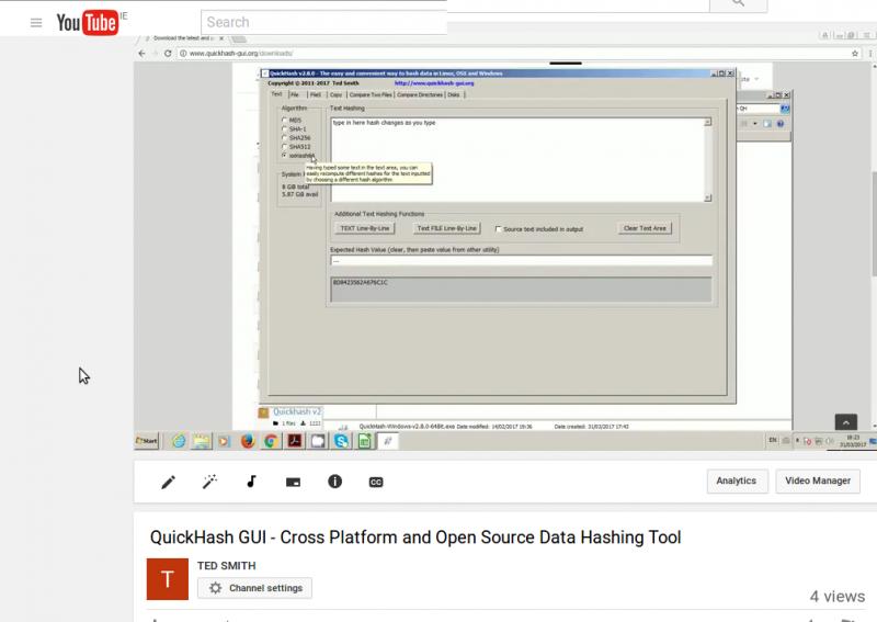 Screenshot-QuickHash GUI - Cross Platform and Open Source Data Hashing Tool