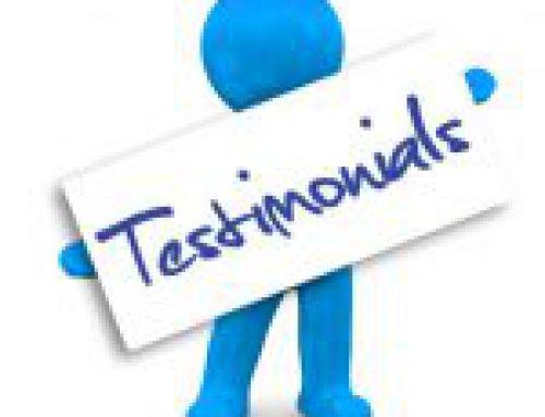 Submit a Testimonial!