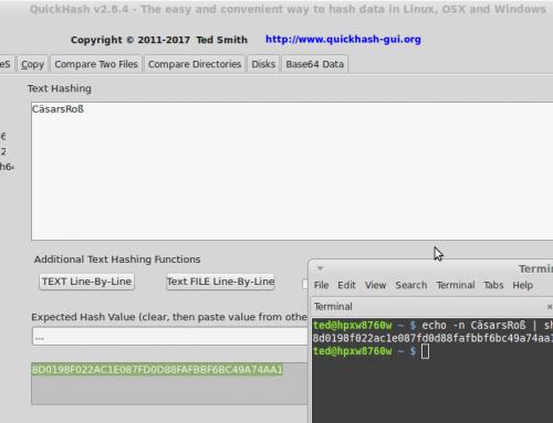 Hashing Unicode Text Strings